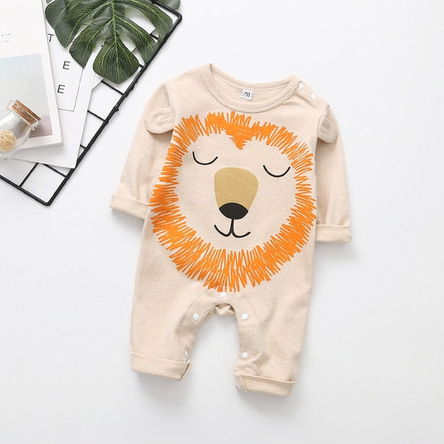 2020 Cute animals Baby Lion Romper-thesalelocker.com