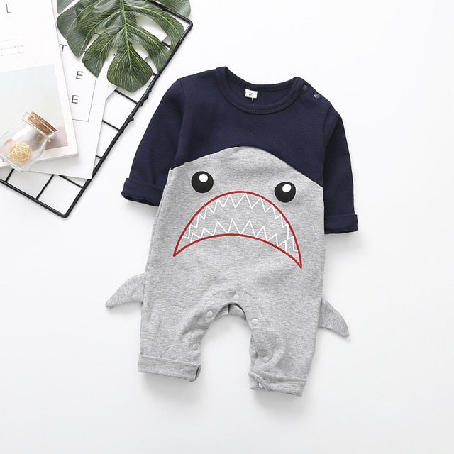 2020 Cute Animals Shark Baby Romper-thesalelocker.com