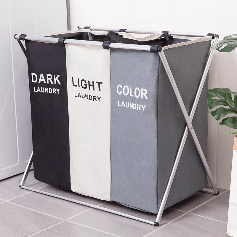 Three Grid Large Laundry Hamper Organizer-thesalelocker.com
