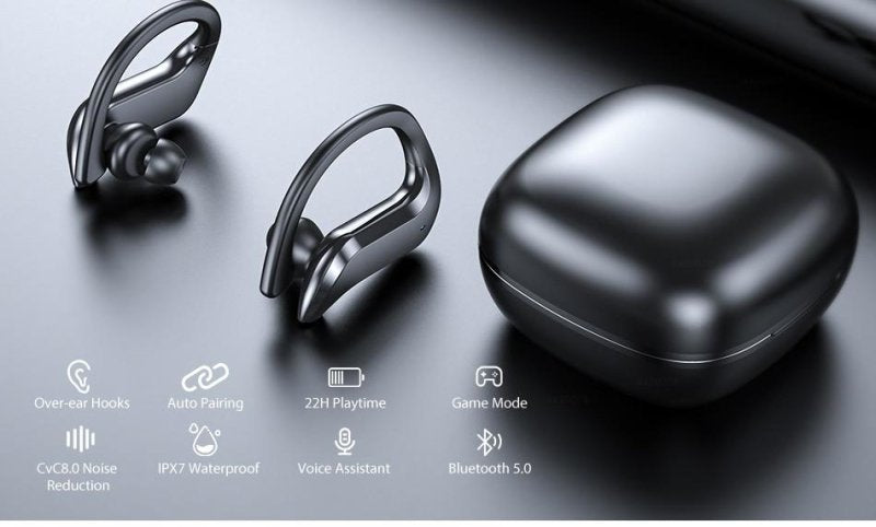 TWS Bluetooth 5.0 Earphones Wireless Bluetooth Headphone Noise Cancelling 9D HiFi Stereo Sport Headset Handsfree With Microphone - thesalelocker.com