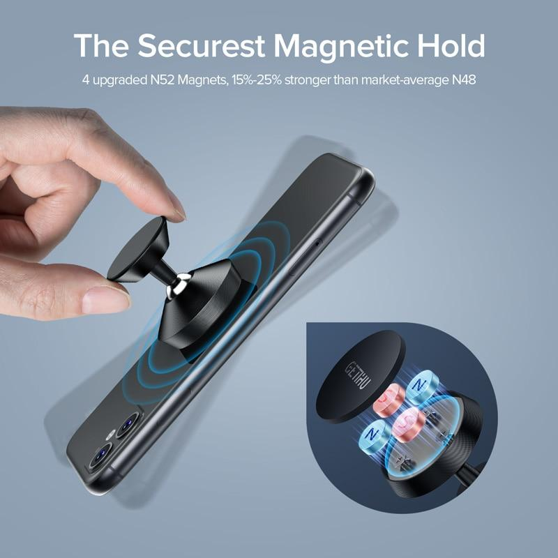 Universal Magnetic Car Phone Holder For iPhone 11 Pro Xs Max X Xiaomi Huawei - thesalelocker.com