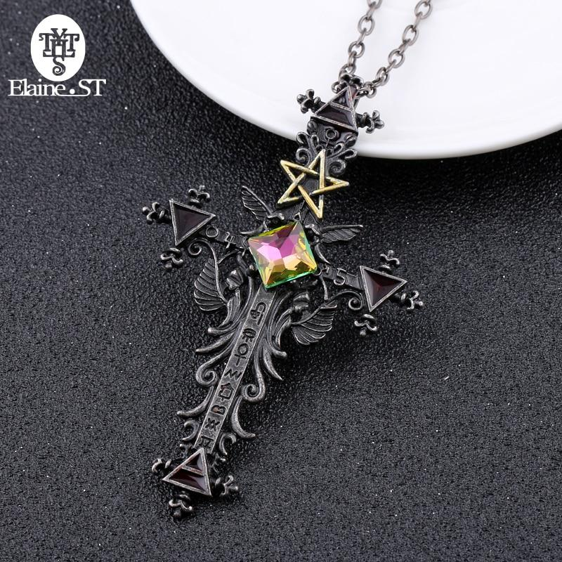 Vintage Gothic Pentagram Cross-thesalelocker.com