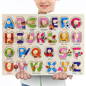 Wooden Puzzle Boards Educational Toys Alphabet-thesalelocker.com