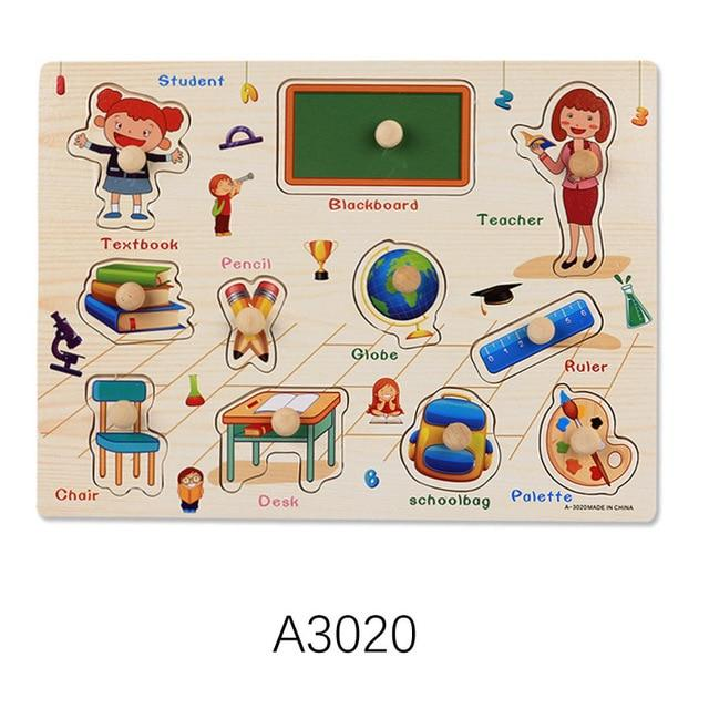 Wooden Puzzle Board Educational Toys Classroom-thesalelocker.com