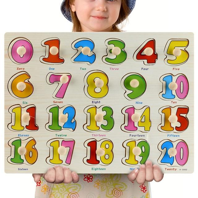 Wooden Puzzle Boards Educational Toys Numbers 1-20 - thesalelocker.com