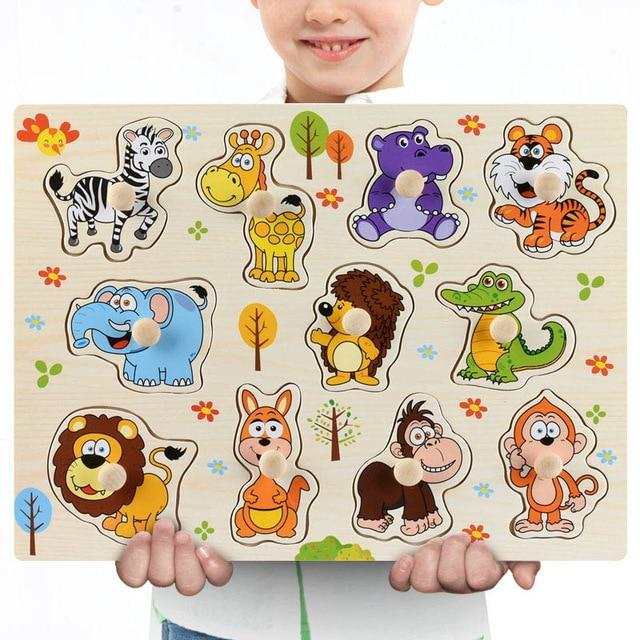Wooden Puzzle Boards Educational Toys Safari-thesalelocker.com