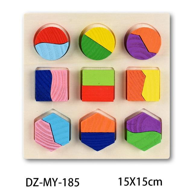 Wooden Puzzle Boards Educational Toys Simple Shapes-thesalelocker.com