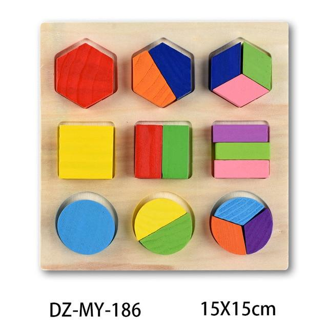 Wooden Puzzle Boards Educational Toys Simple Shapes - thesalelocker.com