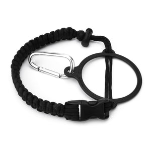 Wide Mouth Paracord Handle - Strap Carrier with Safety Ring and Carabiner