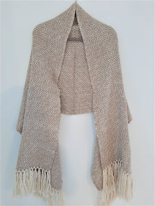 Pampa Maxi Scarf - Brown and White