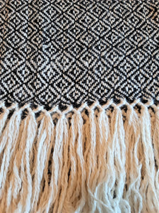 Pampa Maxi Scarf - Black and White