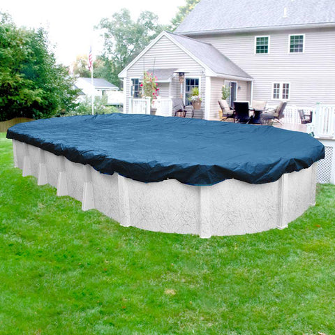 Above Ground Oval Tarp-Type Pool Cover