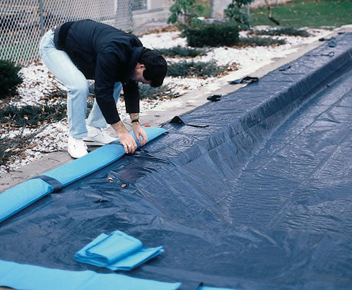 In Ground Tarp-Type Pool Cover 12'+W