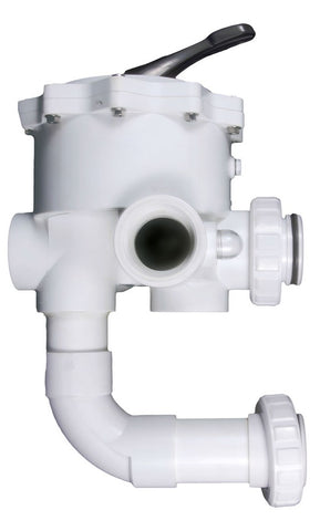 "CMP Replacement MultiPort 2"" FPT Valve White S/M Sand HiFlow Valve with Plumbing  261055"