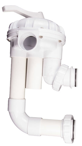 "CMP Replacement MultiPort 2"" Socket Valve White S/M Sand HiFlow Valve with Plumbing  261050"