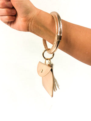 Rose Gold Bangle Key Chain/Card Wallet