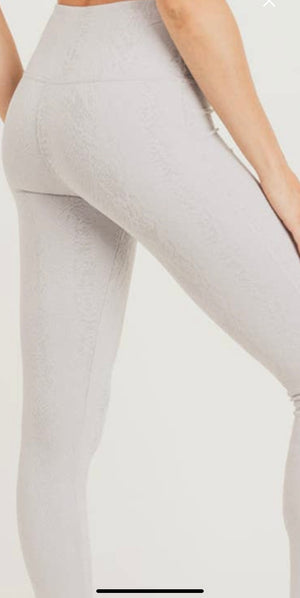 Textured Snake Jacquard TACTEL® Highwaist Leggings
