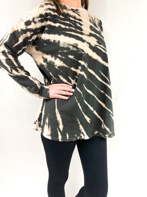 Long Sleeve Tie Dye Tunic Top