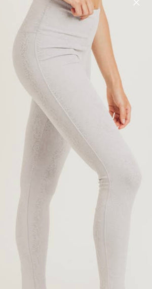 Load image into Gallery viewer, Textured Snake Jacquard TACTEL® Highwaist Leggings