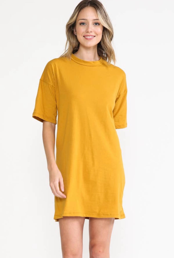 Golden Tee Shirt Dress