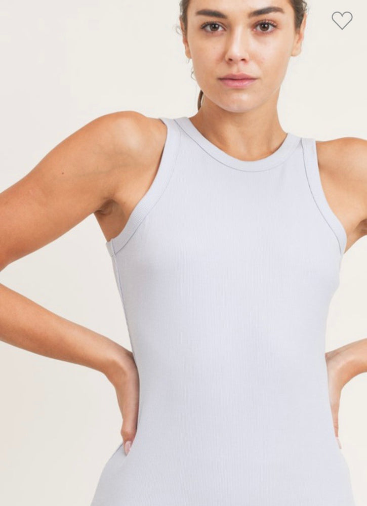 Micro-Ribbed Tank - Pale Blue