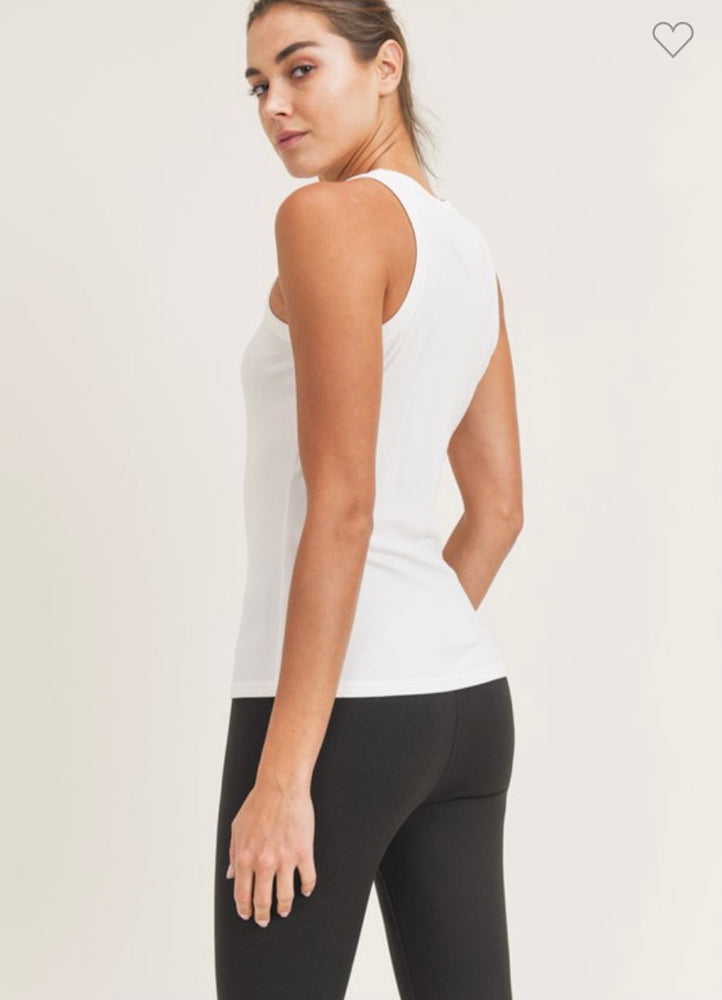 Micro-Ribbed Tank - White