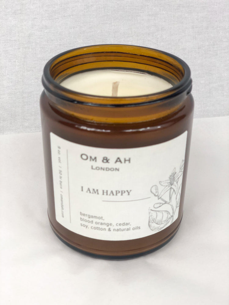 "OM&AH ""I am Happy"" Candle"