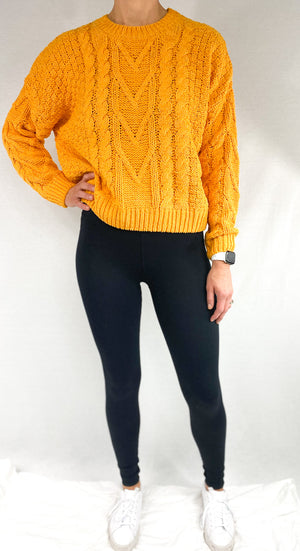 Gold Cable Sweater
