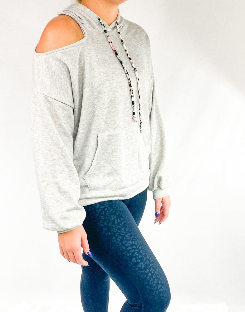 Load image into Gallery viewer, Cold Shoulder Sweatshirt