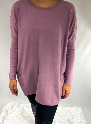 Load image into Gallery viewer, Lavender Dolman Knit Sweater