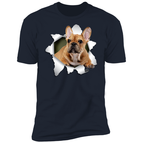 Image of FRENCH BULLDOG 3D Premium Short Sleeve T-Shirt - The Pet Shopco