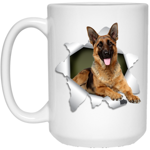 GERMAN SHEPARD 3D 15 oz. White Mug - The Pet Shopco
