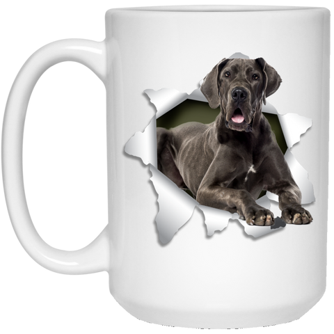 GREAT DANE 3D 15 oz. White Mug - The Pet Shopco