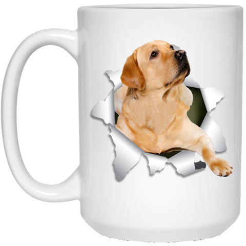 LABRADOR RETRIEVER 3D 15 oz. White Mug - The Pet Shopco