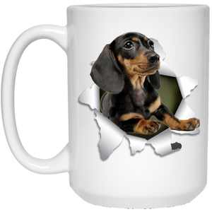 DACHSHUND 3D 15 oz. White Mug - The Pet Shopco