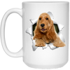 ENGLISH COCKER 3D 15 oz. White Mug - The Pet Shopco