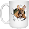 FRENCH BULLDOG 3D 15 oz. White Mug - The Pet Shopco