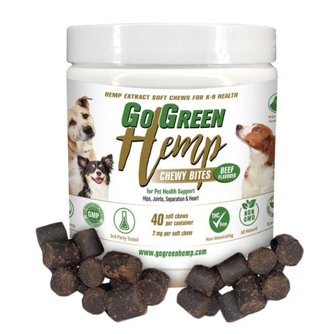 Image of GoGreen Hemp CBD Dog Soft Chew Bites - The Pet Shopco