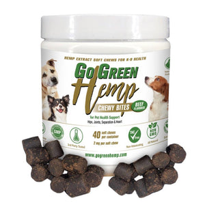 GoGreen Hemp CBD Dog Soft Chew Bites - The Pet Shopco