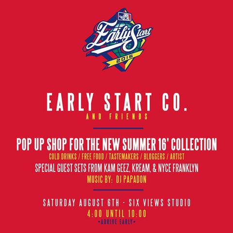 POP UP SHOP FOR THE NEW SUMMER 16' COLLECTION 8/6 4-10PM