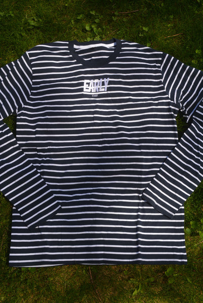 Early Start Co Grid Striped Long Sleeve Shirt (Navy)