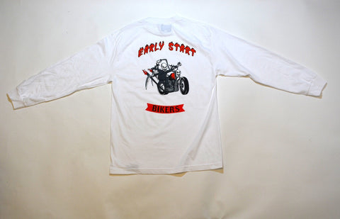 "White Early Start ""Bikers"" Long Sleeve White"