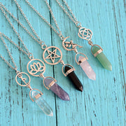Natural Crystal Chain Necklaces