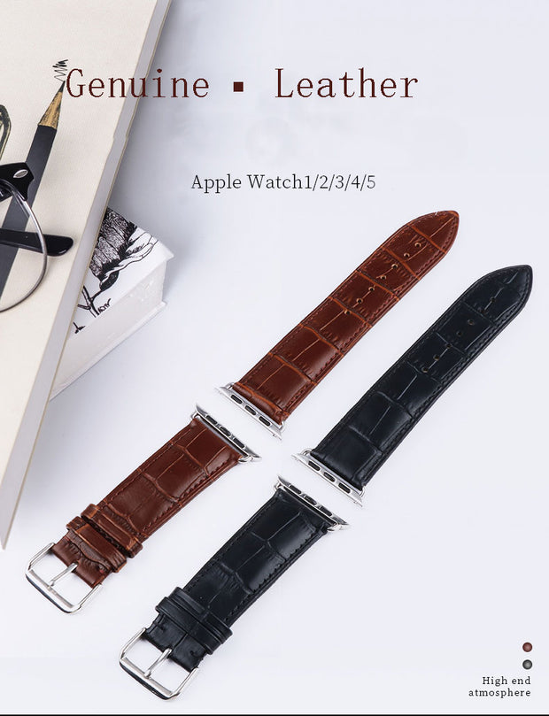 Classic Leather Buckle Strap For Apple Watches