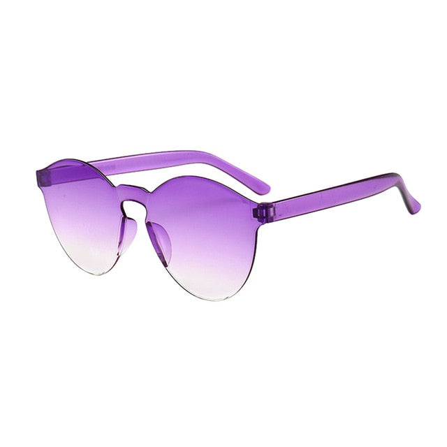 Retro Frameless Oversized Sunglasses