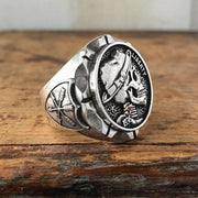 """1936 Liberty"" Retro Skull Ring"