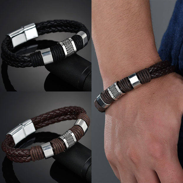 Exquisite Leather Zinc Alloy Bracelet