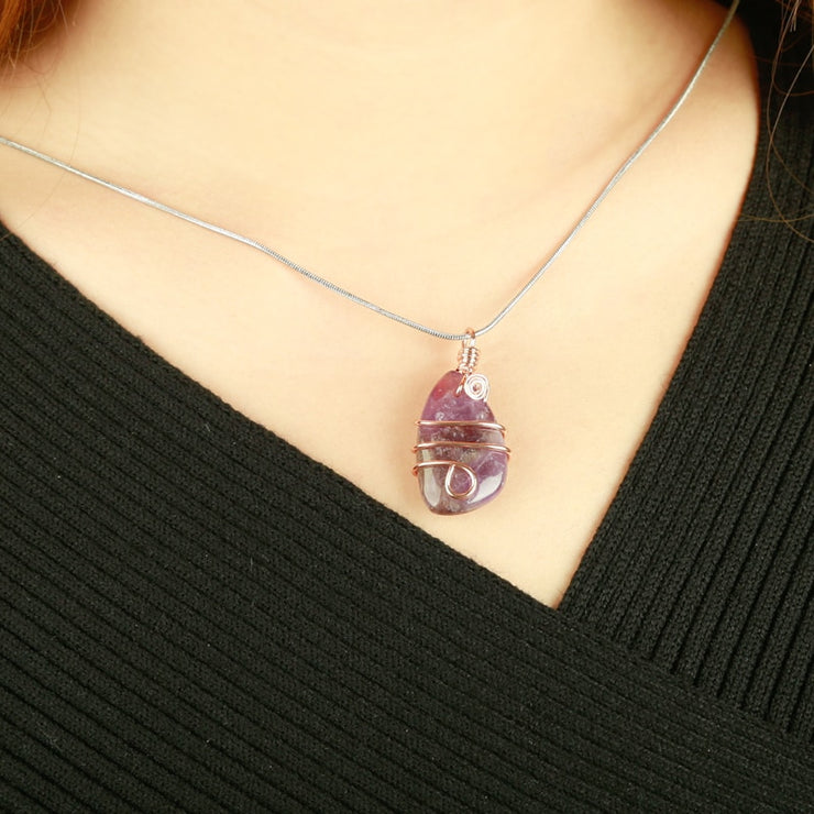 Winding Crystal Natural Healing Pendants