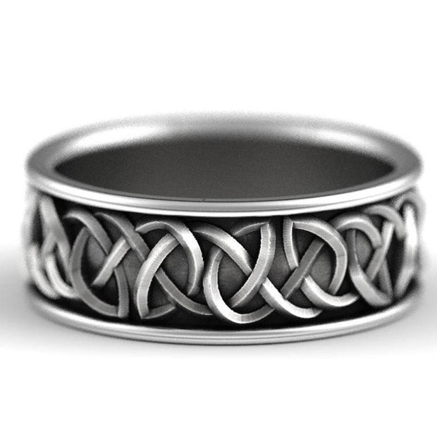 Antique Wolf Celtic Knot Ring