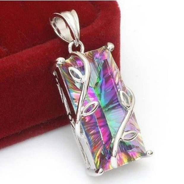 Rainbow Stone Tree Of Life Necklace For Balanced Energy